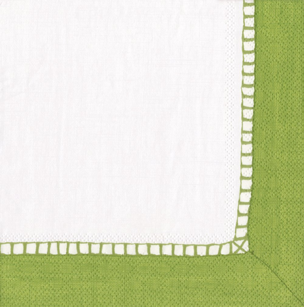 Entertaining with Caspari Linen Paper Luncheon Napkins, Bright Green, Pack of 20
