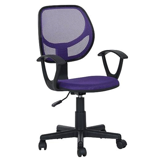 Homycasa Essentials Swivel Adjustable Mid Back Mesh Task Secretary ...