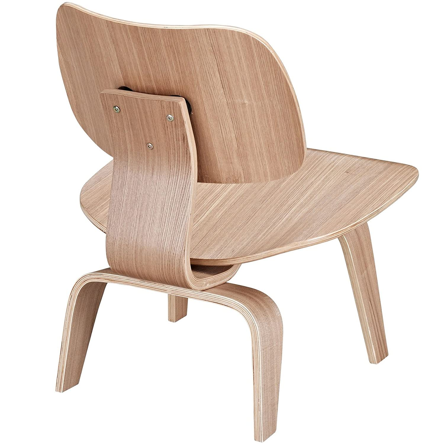 Bent plywood chair eames - Amazon Com Modway Fathom Plywood Lounge Chair In Natural Kitchen Dining