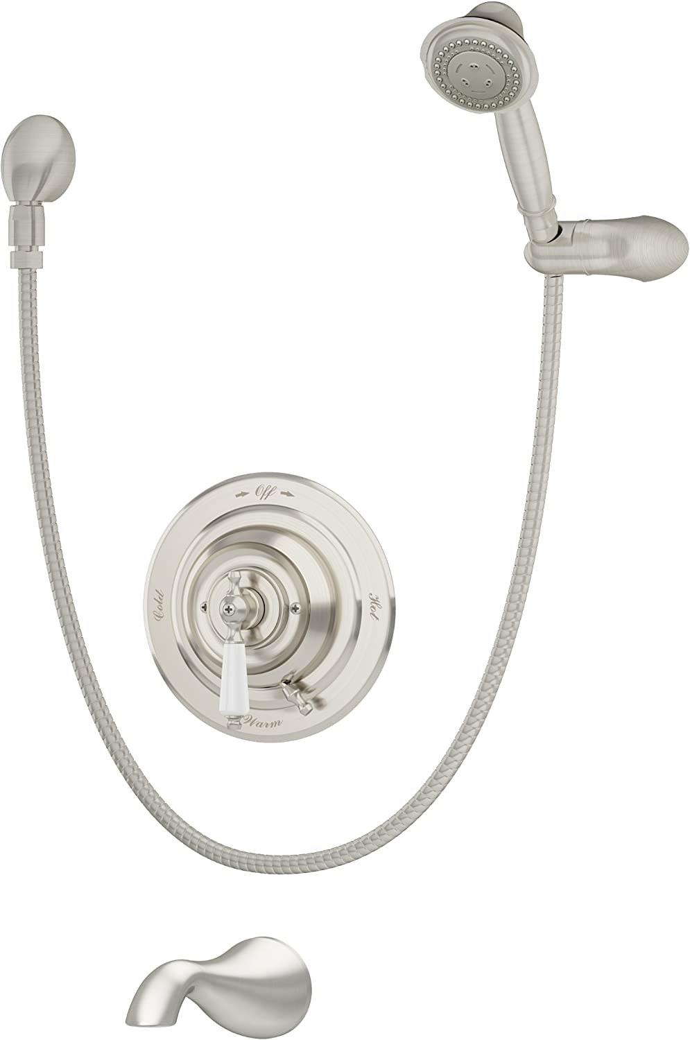 Symmons S 4404 Stn Carrington Tub Hand Shower Satin Nickel Home Improvement