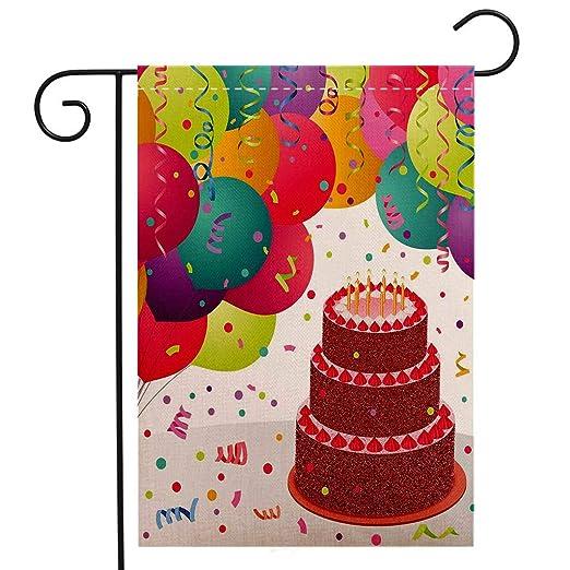 Bandera de jardín de doble cara, decoración de cumpleaños ...