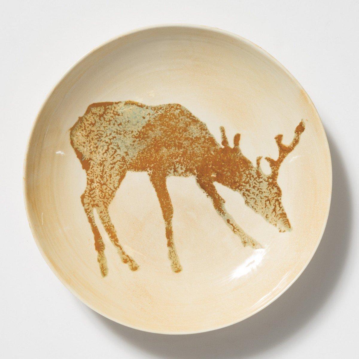 Vietri Foresta Deer Medium Bowl