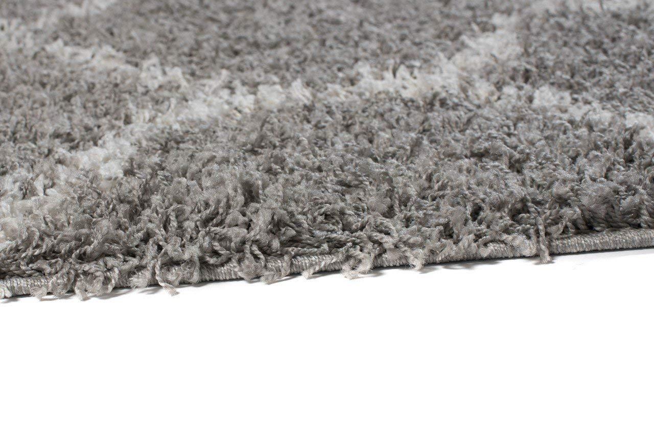 Tapiso Scandinavia Shaggy Shaggy Shaggy Teppich Hochflor   Modern Schwarz Weiss Marrokanisch - Geometrisch im Diamant - Karo Muster   Weich 5 cm Langflor Teppiche für Wohnzimmer   ÖKOTEX 240 x 330 cm B079TZ2BQK Teppiche 553d38