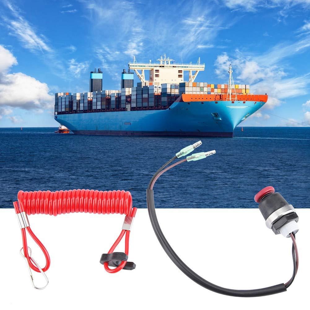 Sicherungsseil Tether wechseln ABS Au/ßenborder Motor Killschalter Sicherungsseil f/ür Marine Mercury Tohatsu