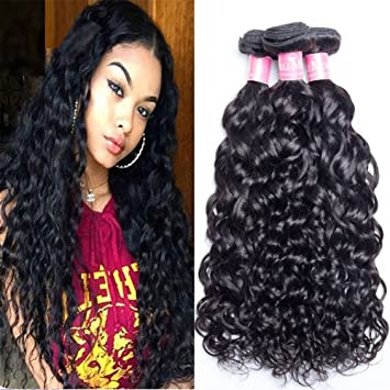 Amazon ali moda malaysian water wave virgin hair weave 3 ali moda malaysian water wave virgin hair weave 3 bundles 100 unprocessed human hair extensions pmusecretfo Images