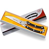 Gelindo Kitchen Scissors- Heavy Duty Stainless Steel- Spring Loaded Shears- Sharp Blade- Safety Clip- Rust Free- Comfortable Handle- Great for Poultry, Fish, Beef, BBQ, Herbs & Plastic