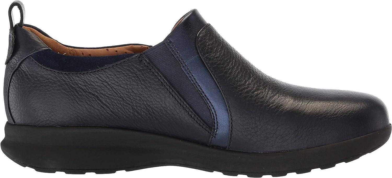 Clarks Damen Un Adorn Zip Halbschuhe Navy Leather Suede Combination pCm6s