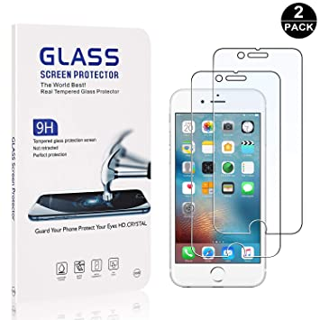 Bear Village/® Tempered Glass Screen Protector iPhone 6 HD Screen Protector Film for iPhone 6 6S 7//8 Screen Protector 7//8-2 PACK 6S