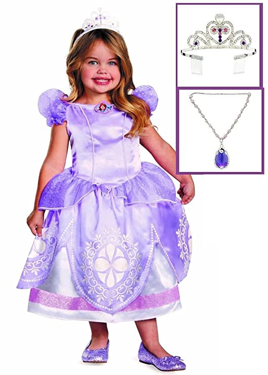 ~ NEW IN BOX Fits sizes 4-6X Disney Princess Sofia the First DRESS /& TIARA SET