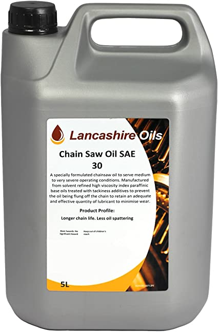 Lancashire aceites 5L motosierra aceite SAE 30: Amazon.es: Coche y moto