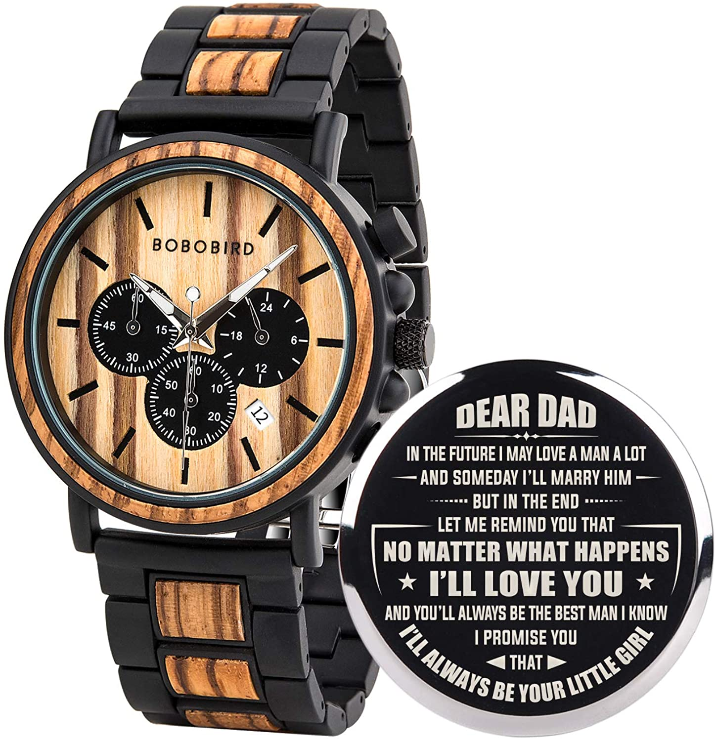 BOBO BIRD Mens Personalized Engraved Wooden