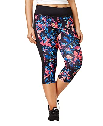 38f063a2c251 Ideology Plus Size Tropical Floral Printed Cropped Leggings (2X) at ...