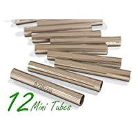Mini Cannoli Tubes, Set of 12 by CiE Stainless steel Cannoli form Shells - Pastry Moulds