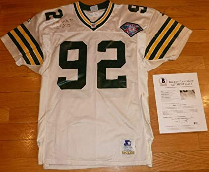 timeless design b9417 63166 Reggie White Autographed Jersey - Beckett bas Vintage 471 ...