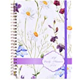 2021 Planner - Weekly and Monthly Planner with Tabs, Flexible Hardcover Daily Planner, Strong Twin - Wire Binding Floral Plan