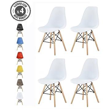 MCC Retro Design Stühle LIA Im 4er Set, Eiffelturm Inspirierter Style Für  Küche, Büro