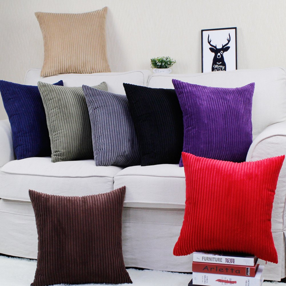 Eazyhurry Pillowcase Decorative Throw Pillow Cover Cushion Classic Polyester Pillowcase Navy Blue 20 X 20 BZ7010-NL5050