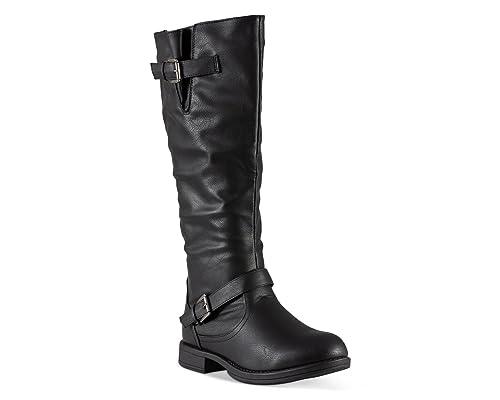 364aa788657f9 Twisted Women's Amira Wide Width, Wide Calf Knee-High Riding Boot