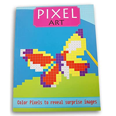 Pixel Art Surprise Images Coloring Book (Butterfly): Office Products