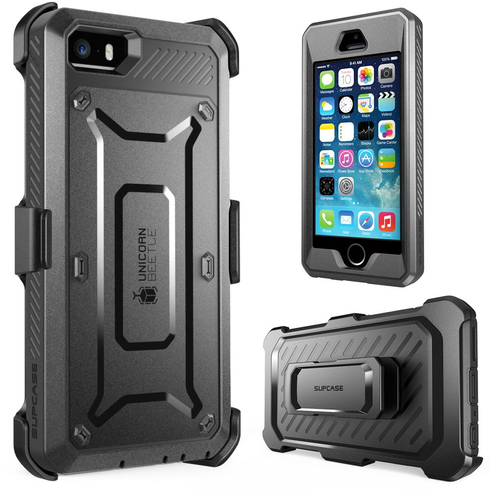 Amazon.com: iPhone 5S Case, SUPCASE [Heavy Duty Belt Clip Holster ...