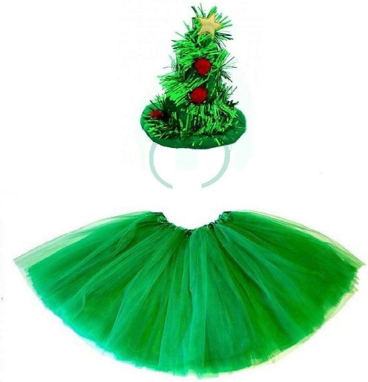Wicked Fun® Disfraz de árbol de Navidad para niña, color verde ...