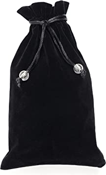 Drawstring Pouch, Velvet Bag 5.5x9 inches, Black Drawstring Cloth, Small Gift Pouch, Jewelry Pouch 1pcs