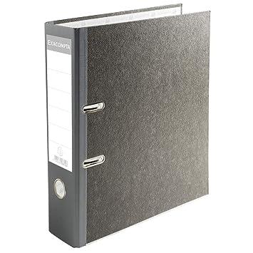 Exacompta 53710E - Archivador de palanca papel jaspeado, lomo de 70 mm, A4, gris: Amazon.es: Oficina y papelería