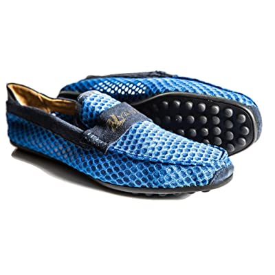 Alaki Hollow Mesh and Suede Loafers