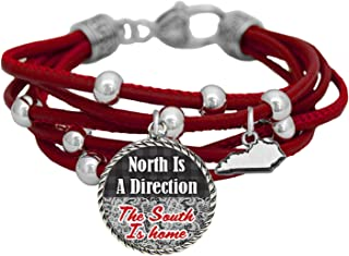 product image for Kentucky North is a Direction South is Home Red Leather Bracelet Southern Jewelry