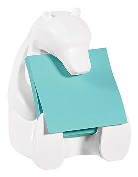 Post-it BEAR-330 - Dispensador, diseño oso y 1 bloc de Z-Notas Post-it Super Sticky de 76 x 76 mm: Amazon.es: Oficina y papelería