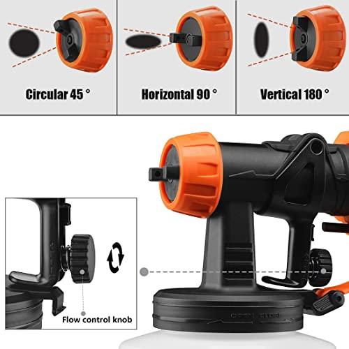 REXBETI Spray gun is suitable for table, cabinets, Chair car, shutter and any wood furnitures