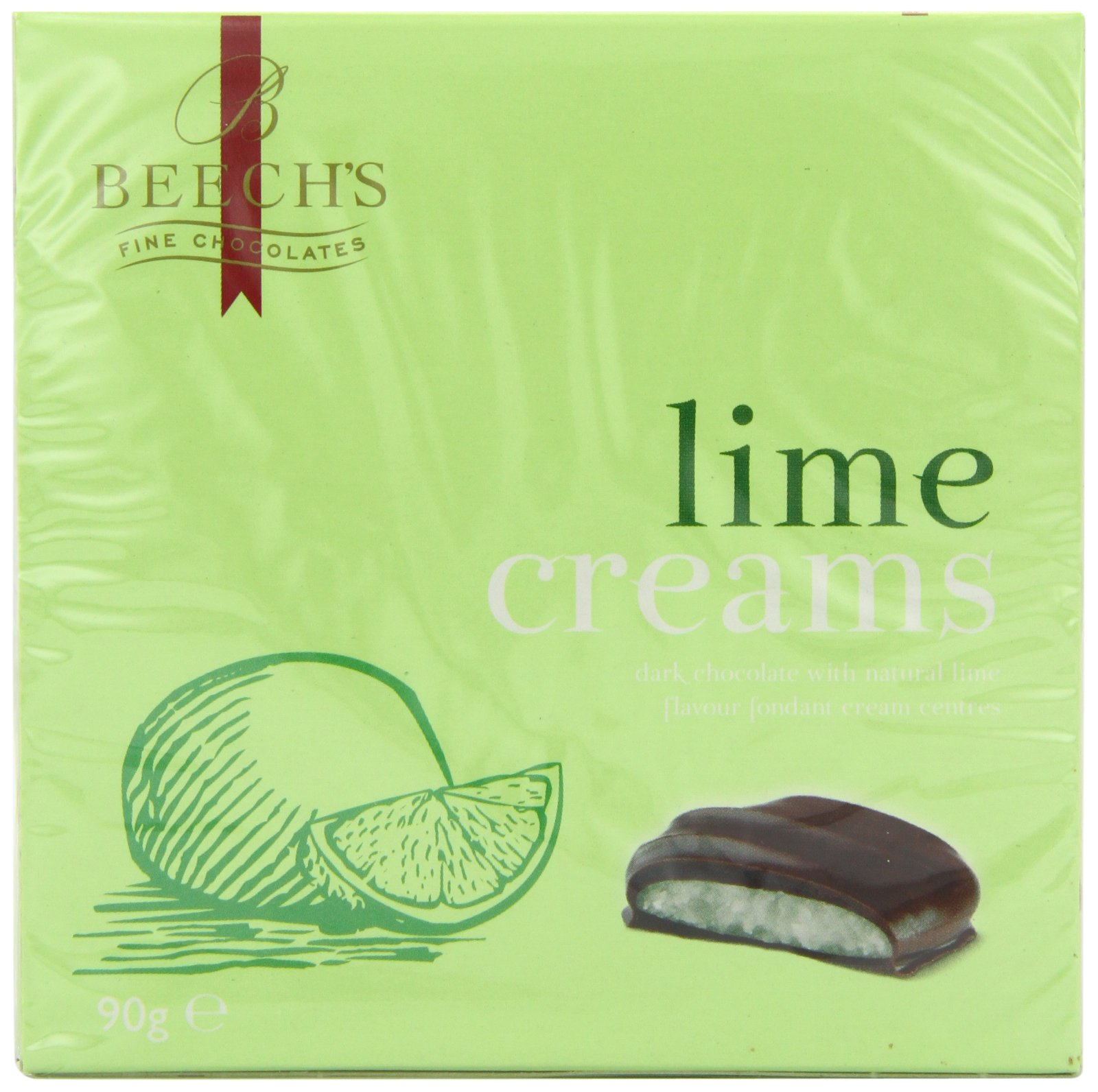 Beeches Lime Creams 90 g (Pack of 6)