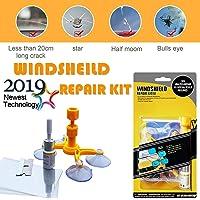 Bamoer Kit de reparación de parabrisas,Windshield Repair Kit para Reparar Arañazos, Reparación de Grietas, de Blancos, roturas, etc