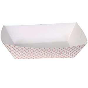 Dixie 5# Polycoated Paper Food Tray by GP PRO (Georgia-Pacific), Kant Leek, Red Plaid, 5lb, RP5008, 500 Count (250 Trays Per Pack, 2 Packs Per Case)