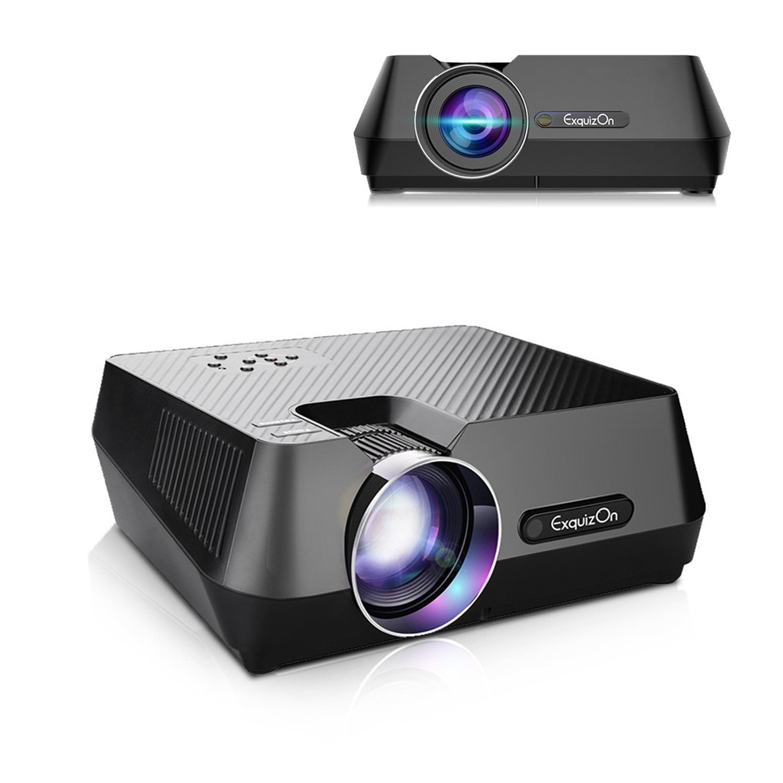 ExquizOn Mini Proyector Portátil GT-S9 Full HD 1080P Proyector LED Multimedia 2200 Lúmenes Entretenimiento en Casa Entrada HDMI USB VGA...
