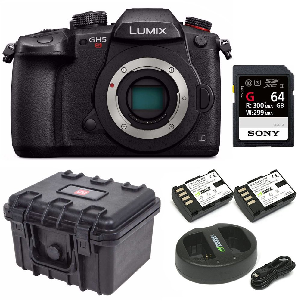 Panasonic GH5 Lumix C4K Mirrorless Camera with 32GB SD Card and Hard Case Bundle