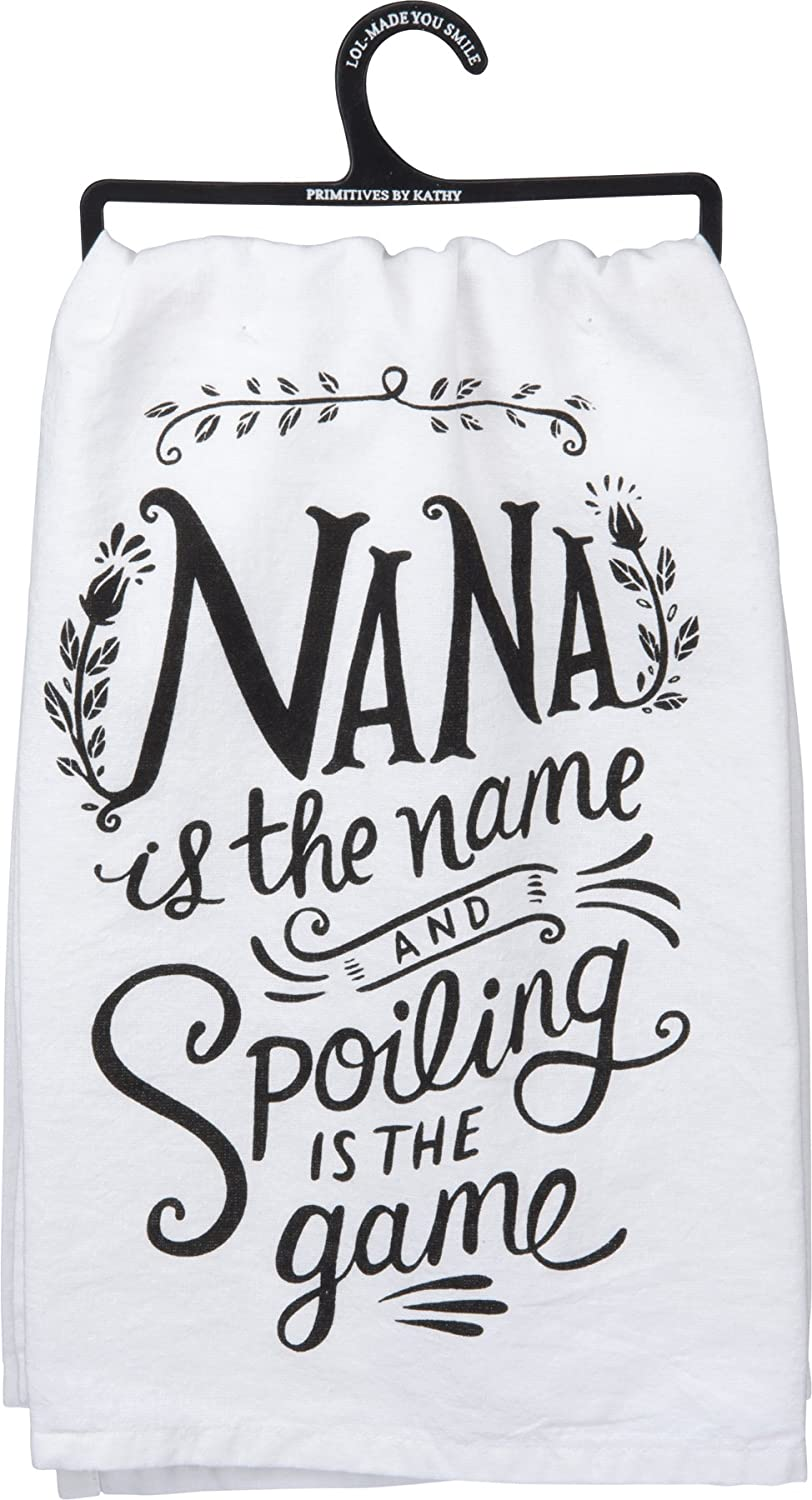 Primitives by Kathy LOL Cotton Dish Towel, Nana is The Name