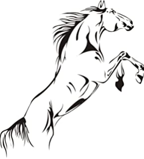 SWORNA Animal Series A Running Pale Horse Removable Vinyl Wall Art Decals Decor Wall Mural Decal