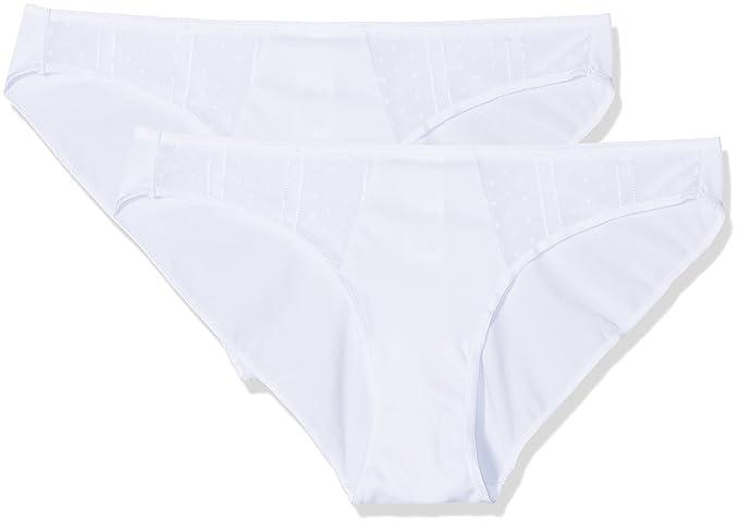 Selene 3081 Pack x 2 Braguitas, Mujer, Blanco, S