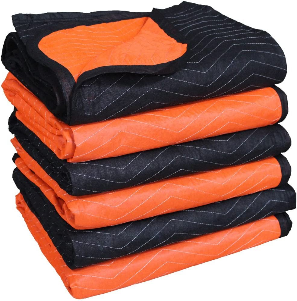 Forearm Forklift FFMB6 Full Size Medium Weight Quilted Moving Blanket (45.6 lb/dz), 72