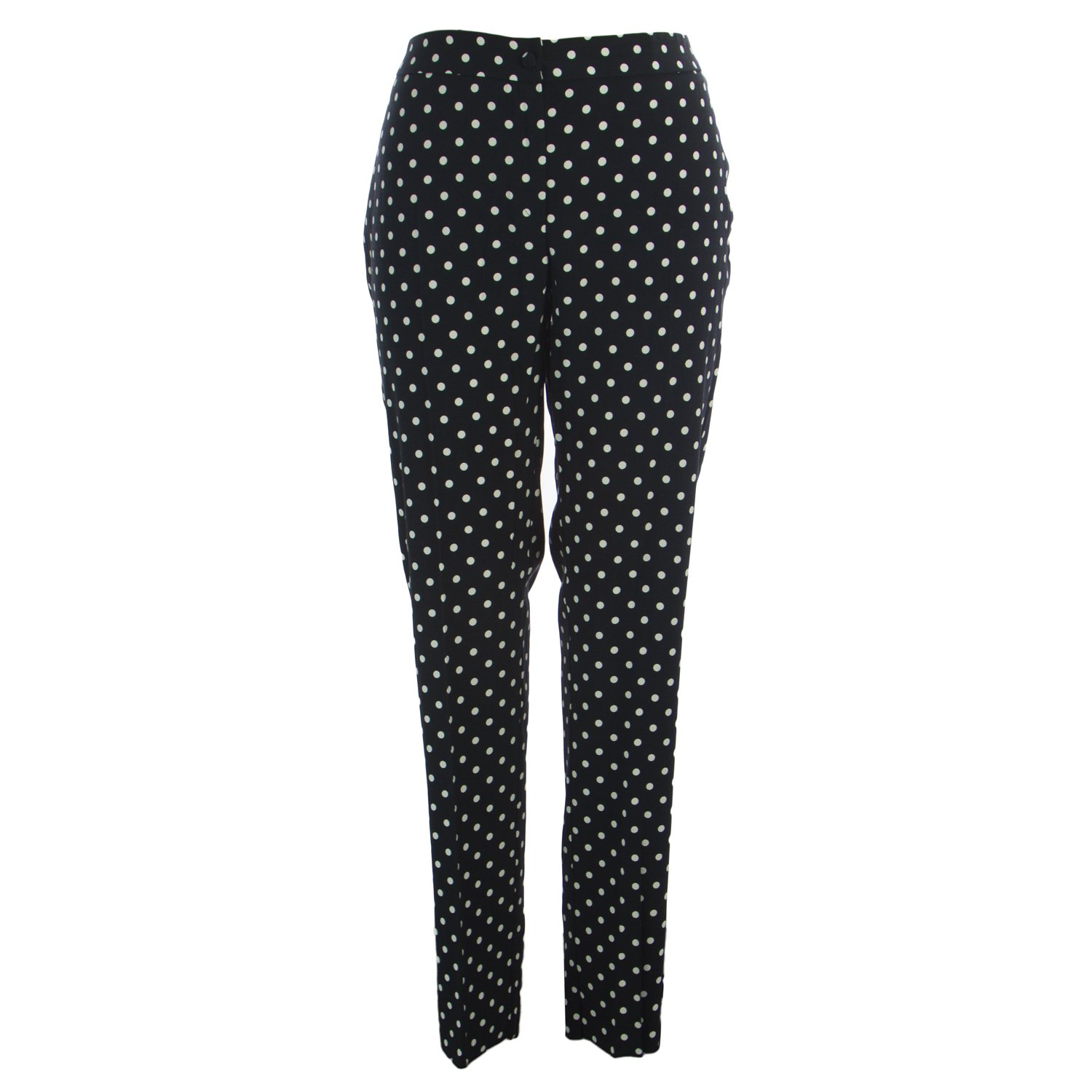 Marina Rinaldi Women's Ragazza Polka Dot Pants 18W / 27 Navy