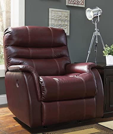 Ashley Bridger 3930125 36u0026quot; Rocker Recliner with Triple-Tier Back Jumbo Stitching Wrapped Padded & Amazon.com: Ashley Bridger 3930125 36