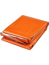 SE EB121OR 83-Inch X 51-Inch Orange Mylar Heavy Duty Emergency Blanket