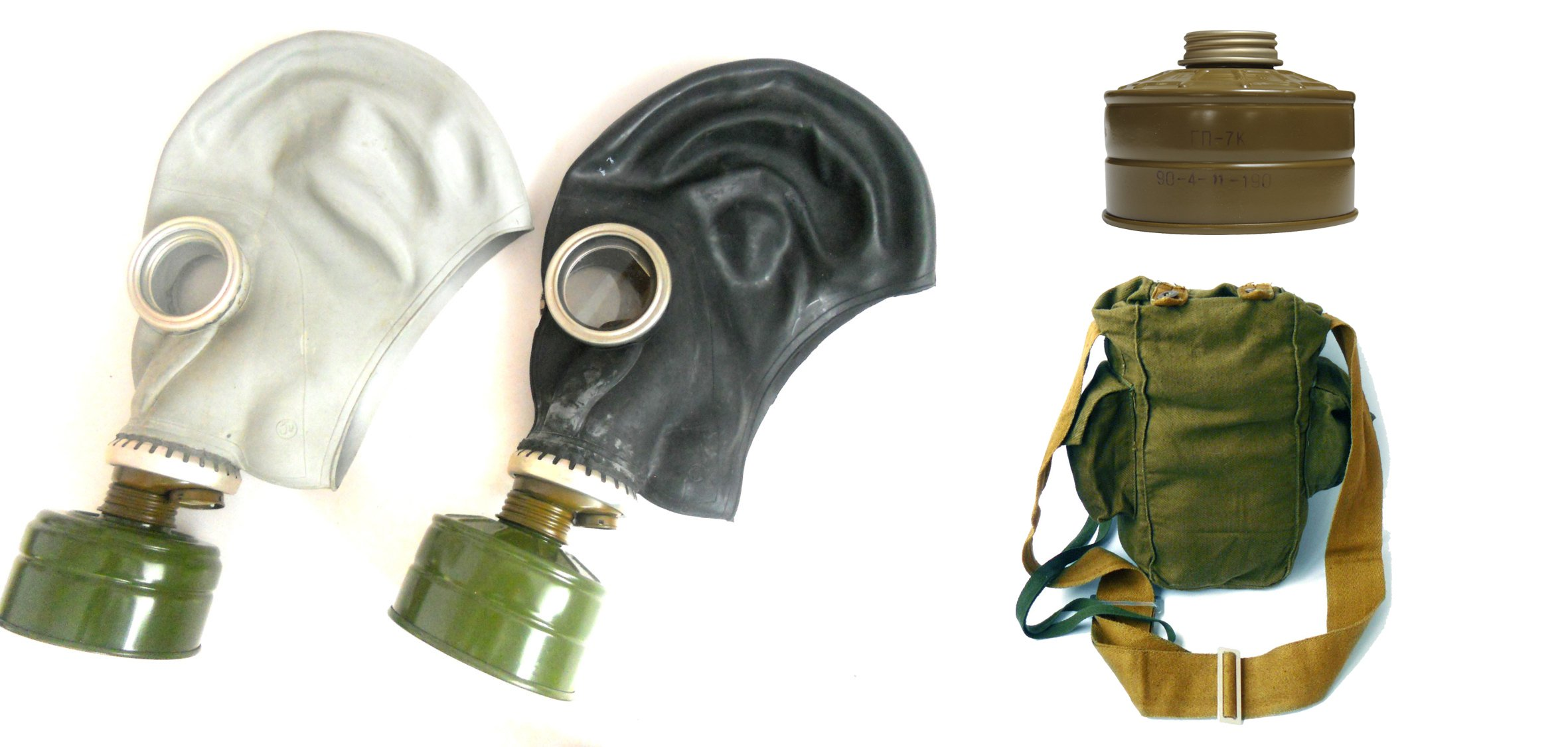GP-5 Original Soviet Civilian Protective Gas Mask (activated Charcoal filter and bag included) (Large, black)
