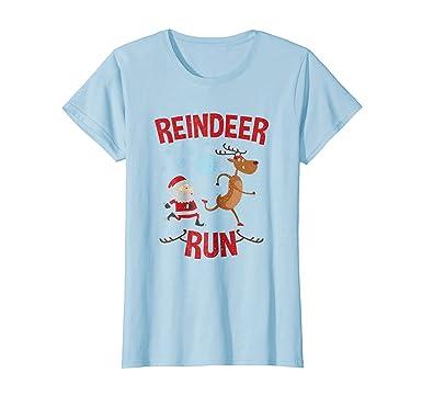 Amazon.com: Womens Reindeer Run Christmas Running T Shirt: Clothing
