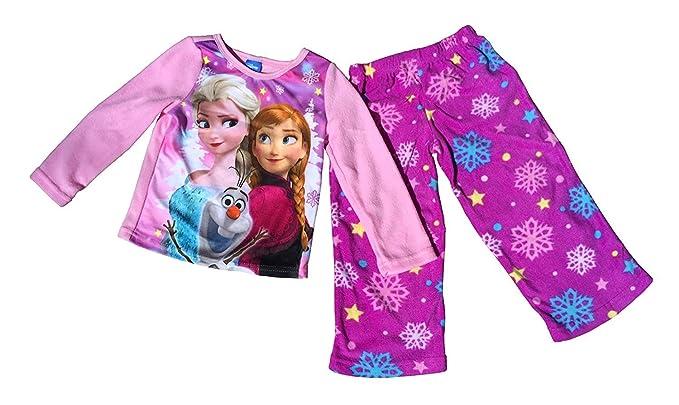 e7d9da5bb Amazon.com  Disney Frozen Girl s 2 Piece Fleece Pajama Set Elsa ...