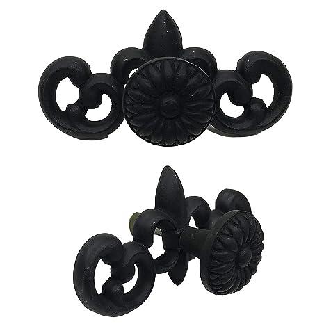 4 CIDH-209S Black /& White Finish for Interior /& Exterior Designing for Gate Cabinet Knob Handles Cabinet - 4.5 Drawer