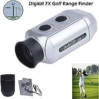 iNNEXT Digital 7x Pro Mini Pocket Golf Range Finder Laser / Laser Rangefinder/ Hunting Laser Range Golf Scopes Yards Distance with Padded Case, Silver