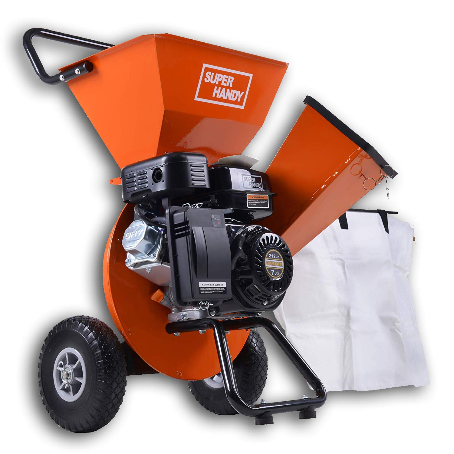 SuperHandy Wood Chipper Shredder Mulcher 7HP Gas Powered Max 3'' Chipping Capacity Ultra Heavy Duty 3 in 1 Multi-Function Capable (Amazon Exclusive only for USA) by SuperHandy