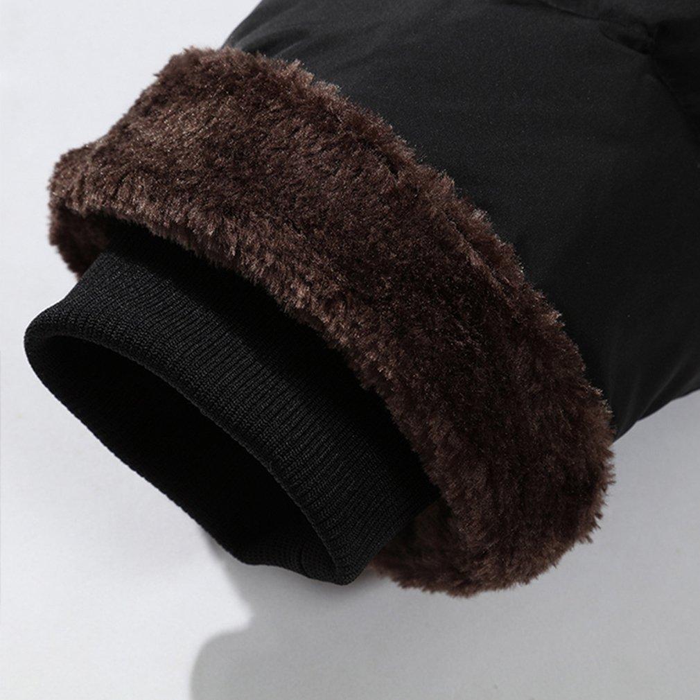 PHerMAN Men's Waterproof Fleece Ski Jacket Windproof Down Coat Puffer Jacket with Removable Hood (US XL/Tag 4XL, Black) by PHerMAN (Image #5)